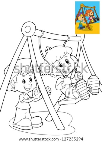 Page Exercises Kids Coloring Book Make Stock Illustration 127235294 ...