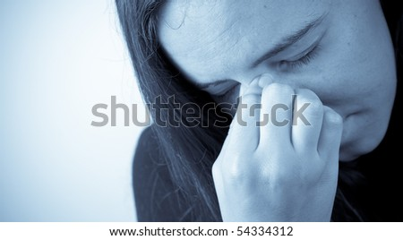The Pain of Allergies Concept - stock photo