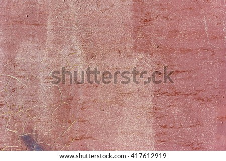 the painted red wall background