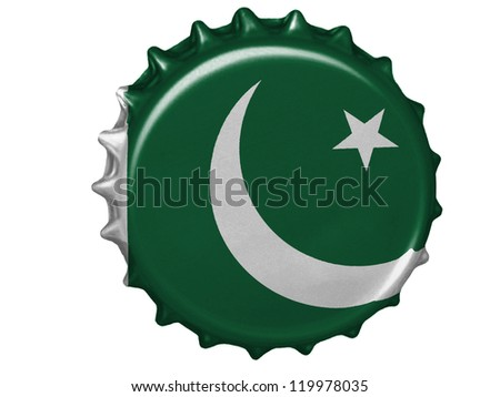 The Pakistani flag painted on  stopper - stock photo