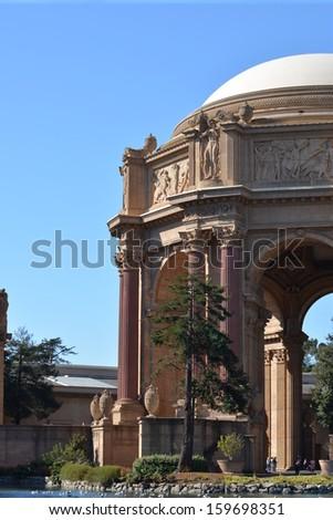 The Palace of Fine Arts, San Francisco, CA - stock photo