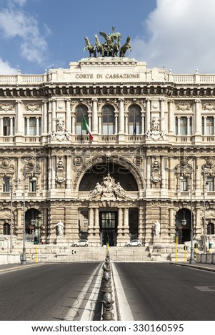 The Palace of Justice in Rome, Italy - stock photo