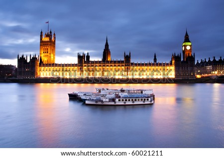 The Palace of Westminster - stock photo