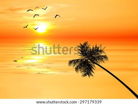 the palm island - stock photo