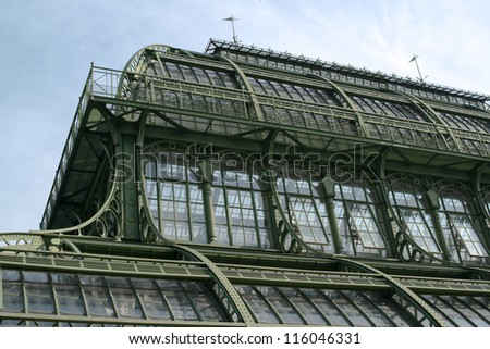 The Palmenhaus at Schoenbrunn Palace , Vienna, Austria - stock photo