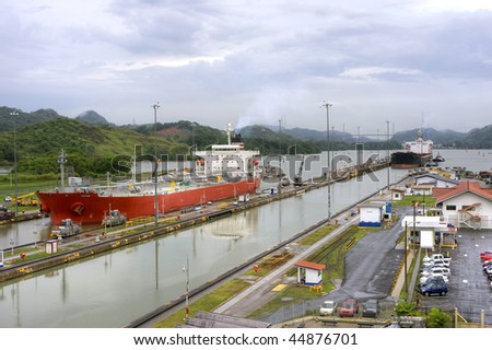 The Panama Canal - stock photo