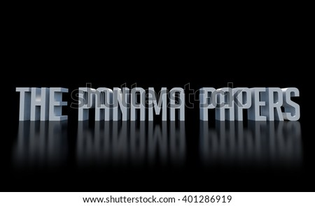 The panama papers leaks, - stock photo