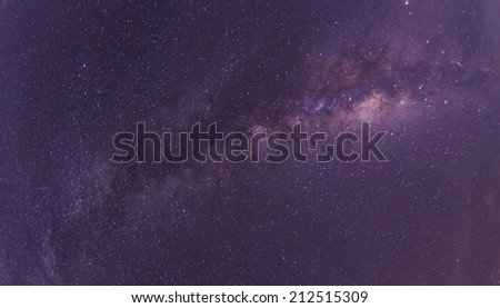 The Panorama Of Milky Way. - stock photo