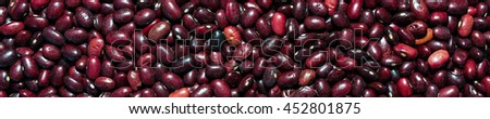 The panoramic background of Red beans. - stock photo