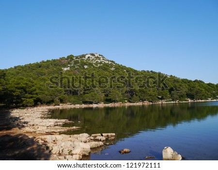 The pantera bay of the island Dugi Otok in Croatia