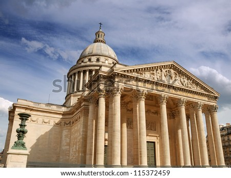 The Pantheon in the Latin Quarter in Paris, France.