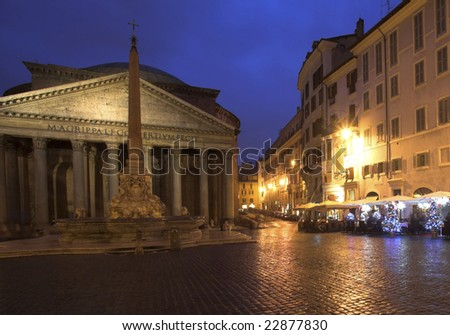 The Pantheon Temple, Rome, Italy - stock photo