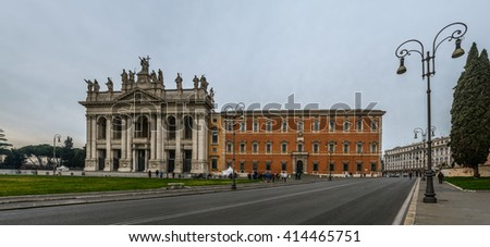 The Papal Archbasilica of St. John in the Lateran or just The Lateran Basilica, is the cathedral church of Rome and the official episcopal seat of the Bishop of Rome, the Roman Pontiff.