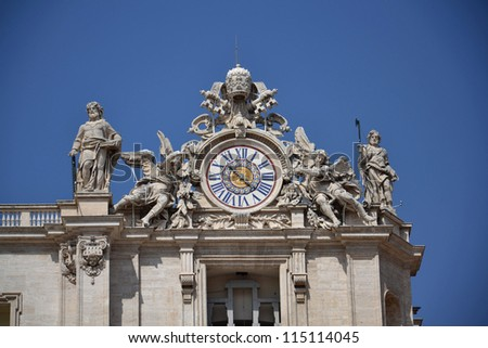The Papal Basilica of Saint Peter in the Vatican.