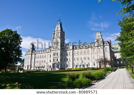 The Parliament building in Quebec City, Canada # 1