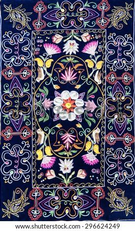 The part of azerbaijan handmade carpet - stock photo
