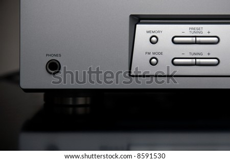 The Part of Home Theater Receiver - stock photo
