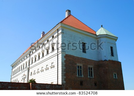 The part of old royal castle in Sandomierz. Poland