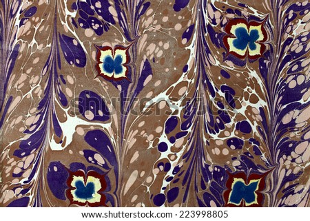 The part of wall with floral ornament - stock photo