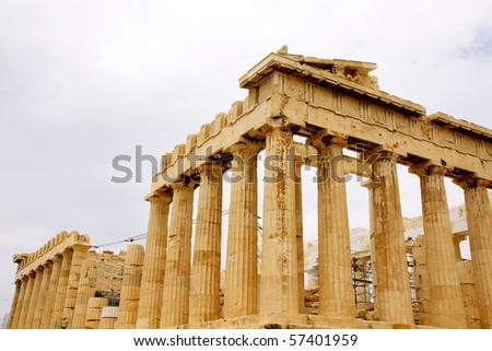 The Parthenon, in Athens Akropolis, Greece, EU - stock photo