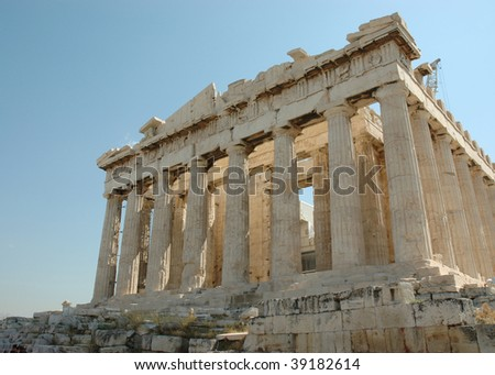 The Parthenon in Athens, Greece - stock photo