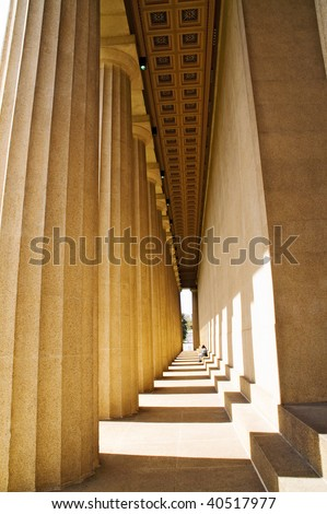 The Parthenon, Nashville, Tennessee, real size, built as the ancient Greek structure - stock photo