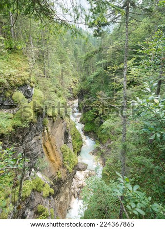 The partnach gorge in the Bavarian alps