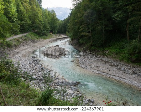 The partnach gorge in the Bavarian alps - stock photo