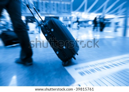the passenger at the airport. - stock photo