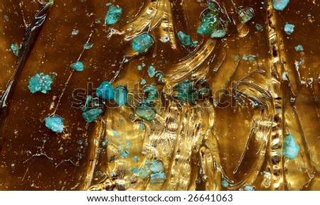 The pattern of a viscous liquid movement. - stock photo