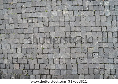 The pattern of stone block paving. Background  - stock photo