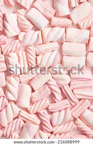 the pattern of sweet marshmallow - stock photo