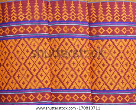 The pattern of Thai pillow