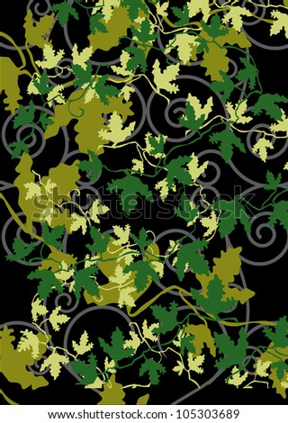 The pattern of the leaves - stock photo