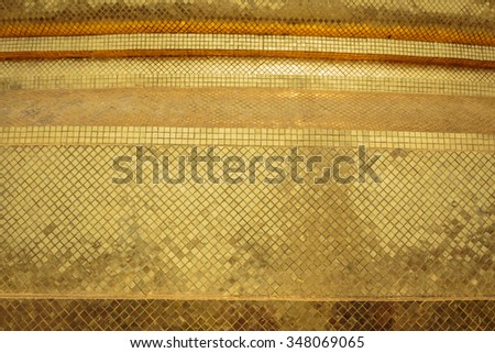The pattern on the wall is very beautiful. - stock photo