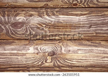 The patterned texture of the pine trunk - stock photo