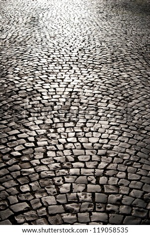 The pavement in the sunlight - stock photo