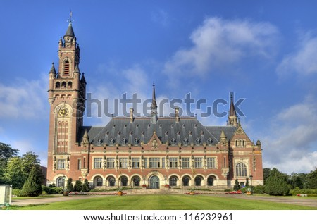 The Peace Palace, International Court of Justice, in The Hague, Holland - stock photo