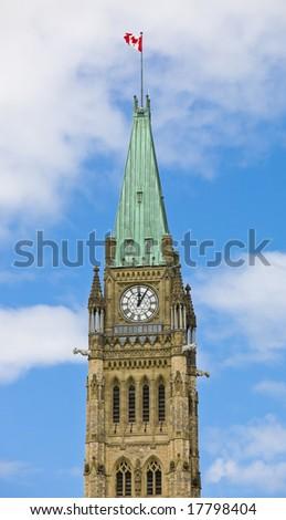 The Peace Tower, Ottawa, Canada - stock photo