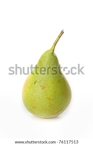 The pear isolated on white background