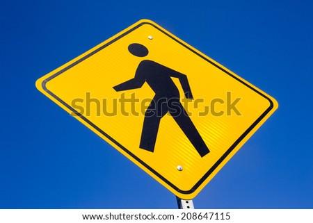 "The ""Pedestrian"" street sign. - stock photo"