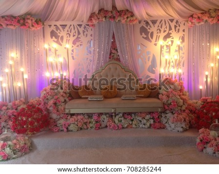 The Pelamin Created In A Traditional Malay Wedding