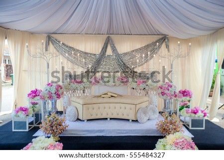 The Pelamin Or Wedding Dais Is Specially Created In A Traditional Malay WeddingIt