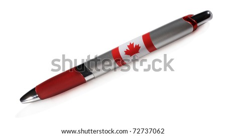 The pen isolated - stock photo