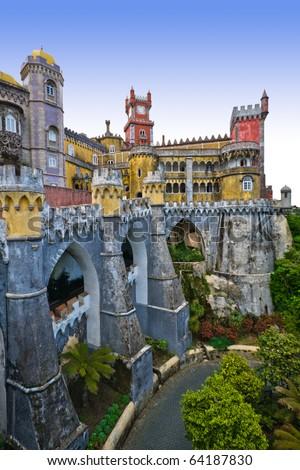The Pena Castle in Sintra, Portugal - stock photo