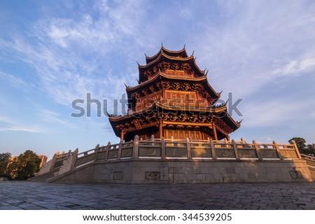 The peony pavilion in Fuzhou city, Jiangxi Province - stock photo