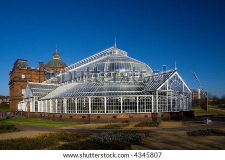 The People's Palace greenhouse on glasgow Green - stock photo