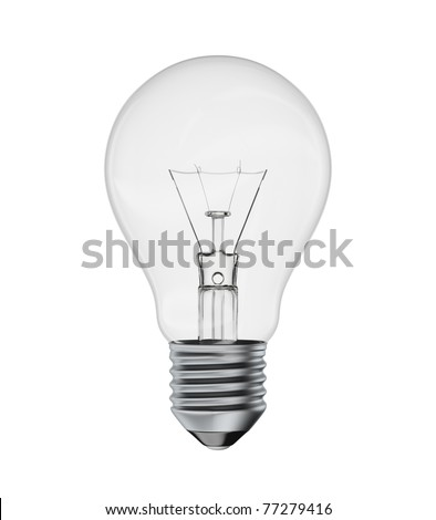 The perfect light bulb isolated on a white background - stock photo