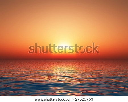 the perfect sunset - stock photo