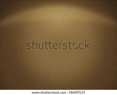 The Perforated seamless golden metal plate